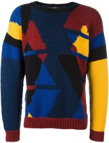 Sibling 'Samo Hands' intarsia jumper