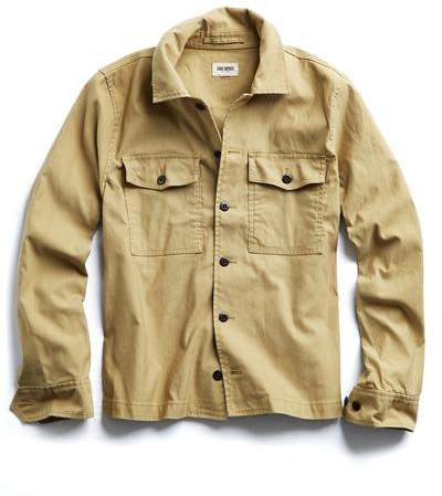 Todd Snyder CPO Overshirt Jacket in Khaki