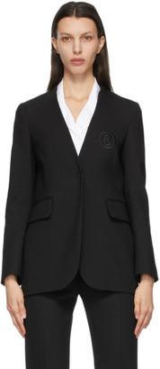 MM6 MAISON MARGIELA Black Collarless Logo Blazer