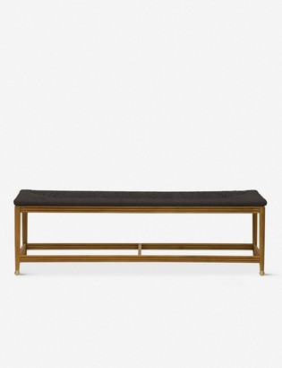 Lulu & Georgia Morris & Co. Kelmscott Rush Indoor / Outdoor Bench, Black