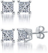 FINE JEWELRY Classic 1/2 CT. T.W. Princess White Diamond 10K Gold Stud Earrings