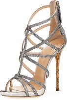 Metallic Spotted High Dressy Sandal