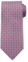 Salvatore Ferragamo Large Gancini-Print Silk Tie