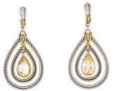 Judith Ripka Canary Crystal & Diamond Teardrop Earrings