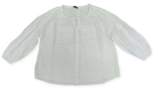 INC International Concepts Inc Plus Size Peasant Shirt, Created for Macy's