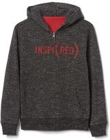 Gap x (RED) fleece zip-up hoodie