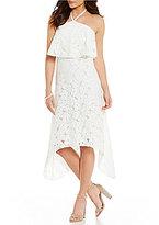 Trina Turk Oasis Popover Halter Lace Dress