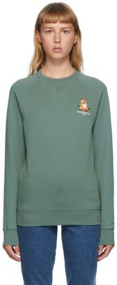 MAISON KITSUNÉ Green Lotus Fox Sweatshirt