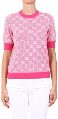 Gucci GG Motif Knitted Short-Sleeve Jumper
