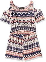 Blush Lingerie Girl's Cold Shoulder Plain Dress