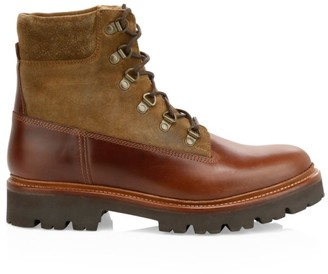 Grenson Rutherford Leather & Suede Hiking Boots