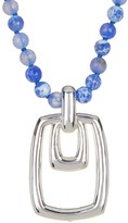 Simon Sebbag Beaded Rectangle Pendant Necklace