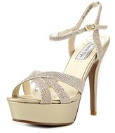 Touch Ups Cori Women Open Toe Synthetic Gold Platform Heel.