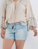 Charlotte Russe Plus Size Butt Lifter Girlfriend Denim Shorts