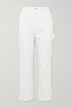 Denimist Chapel Carpenter High-rise Slim-fit Jeans - White