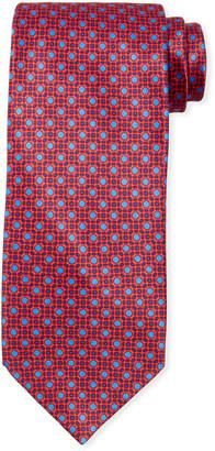 Stefano Ricci Men's Medium Medallion Floral Silk Tie