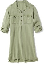 Old Navy Twill Utility Shirt Dress for Girls