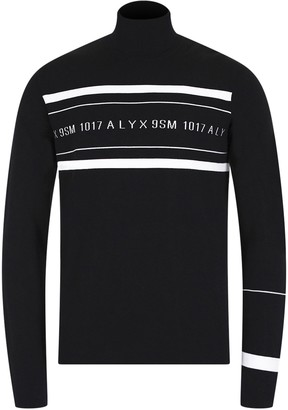 Alyx Logo Multi Stripe Turtleneck Sweater