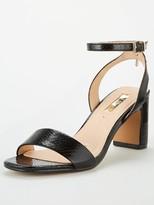Office Makeover Heeled Sandals - Black