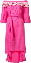 Peter Pilotto off-shoulder lace detail dress - women - Cotton/Polyester - 6