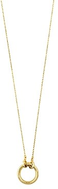 Tous 18K Yellow Gold Hold Pendant Necklace, 15.7