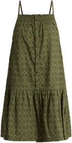 Current/Elliott Hazel dropped-waist embroidered-cotton dress