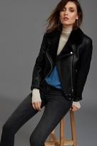 Dynamite Faux Leather Sherpa Jacket