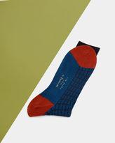 Colour Block Textured Socks