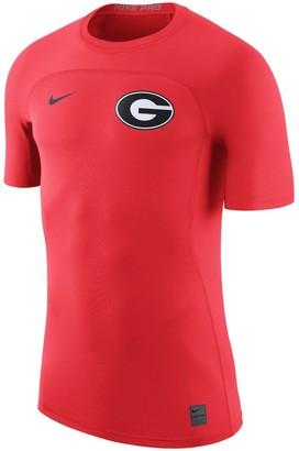 Nike Men's Red Georgia Bulldogs HyperCool Player Top