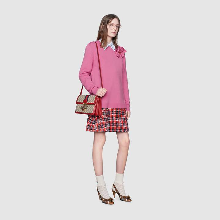 Gucci Wool sweater with detachable rose