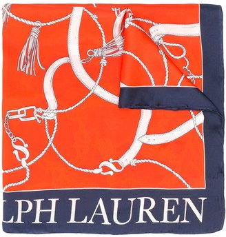 Lauren Ralph Lauren Nautical-Themed Silk Scarf