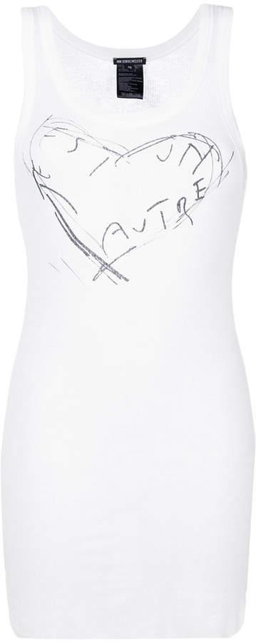 Ann Demeulemeester heart print tank top