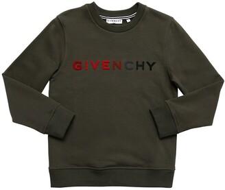 Givenchy Velvet Logo Cotton Blend Sweatshirt