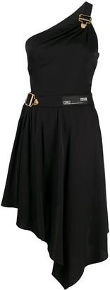 Versace One Shoulder Asymmetric Dress
