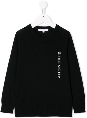 Givenchy Kids logo print sweater