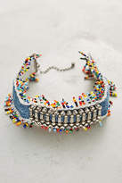 Dannijo Birdie Beaded Denim Choker Necklace