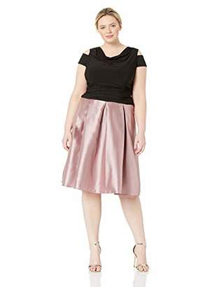 SL Fashions Women's Plus Size Holiday Elegant Party Dress