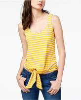 Maison Jules Striped Tie-Front Tank Top, Created for Macy's