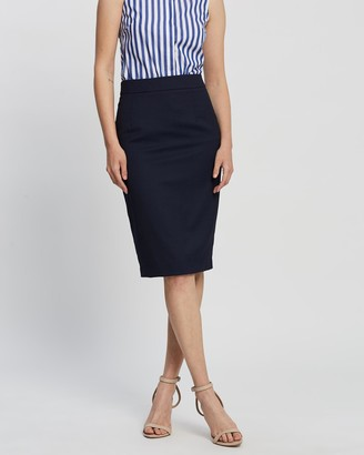 Farage - Women's Navy Midi Skirts - Goldie Micro Skirt - Size One Size, 8 at The Iconic