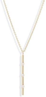 Bony Levy Ofira Vertical Diamond Bar Pendant Necklace