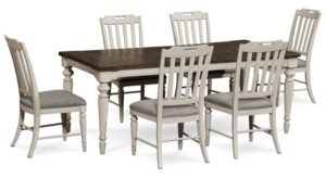 Barclay Expandable Dining Furniture, 7-Pc. Set (Dining Table & 6 Upholstered Side Chairs)