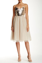 Little Mistress Sequin Embellished Strapless Dress
