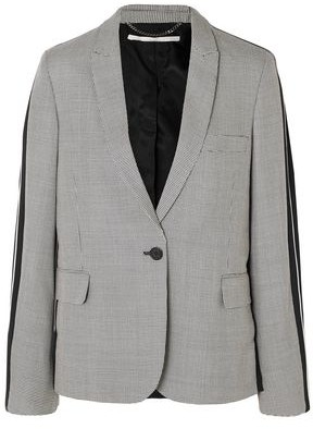 Stella McCartney Houndstooth Wool-twill Blazer