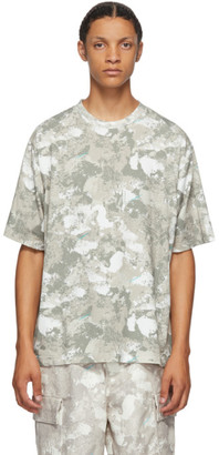 Marcelo Burlon County of Milan Beige County Camou T-Shirt