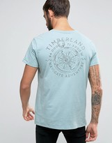 Timberland Back Compass Logo T-Shirt Regular Fit in Light Blue