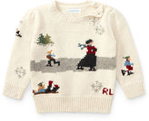 Ralph Lauren Girl Skating Cotton-Wool Sweater