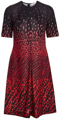 Givenchy Printed Short-Sleeve A-Line Dress
