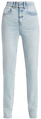 Alexander Wang High-Waist Slim Stacked Jeans