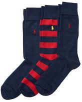 Polo Ralph Lauren Striped & Solid Sock Set