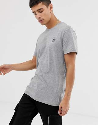 Cheap Monday standard tiny skull t-shirt-Gray